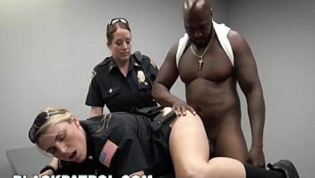 BLACK PATROL - MILF Cops Take Down i. Prostitution Ring