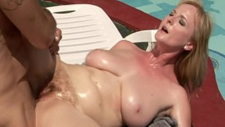 Massage session by the pool - Monik