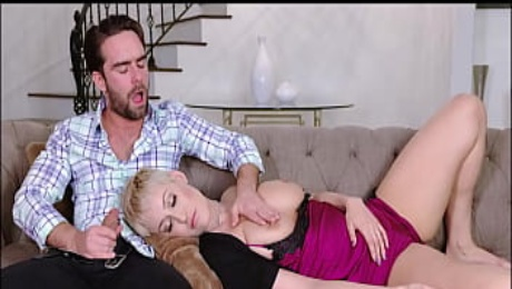 s. Big Tits PAWG Blonde MILF Step Mom Ryan Keely Orgasms Repeatedly On Family Step Son's Cock